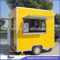 comercial 2014 móvil de acero inoxidable de alimentos snack que sirve de coches