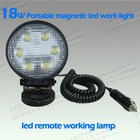cheap price!! Powerful 18W Magnetic Base LED Work Light,Car Work Lamp,led auto light