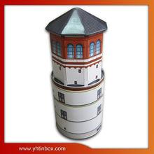 house shape storge tin can