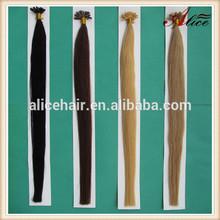Cheap remy italian kertian nail tip hair extensions straight