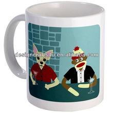 Cheap ceramic lovely dog mug promotional gift