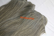 Unprocess virgin Gray remy hair extensions top quality grey hair weave