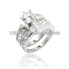 couples promise rings, diamond platinum couple wedding band ring