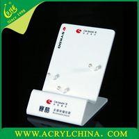 White Acrylic Retail Mobile Phone Display Stand desktop acrylic display stand