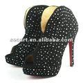 Personalizada de transferencia de calor rhinestone/stud en los zapatos