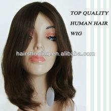 Top quality virgin human hair mono top wig lace wig Jewish wig