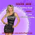 Ml17694 quente das mulheres bonitas olho- captura de meia ombro vintage mini vestido sem mangas elegante sexy vestidos de baile 2014