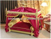 Luxury Buckingham Pet Bed/ European Style Pet Furniture/Beautiful High Quality Dog Cat Bed-BG800001