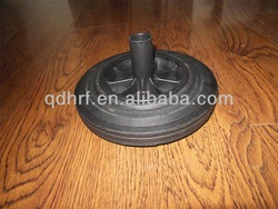 small rubber solid wheel with plastic core rubber wheel 200x50mm