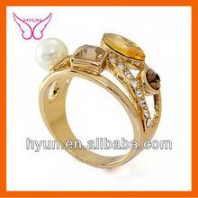 CRYSTAL&DIAMOND 1GRAM GOLD RING DESIGNS GOLD RING
