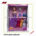 11.5 pulgadas de plástico de moda muñeca negro para la venta