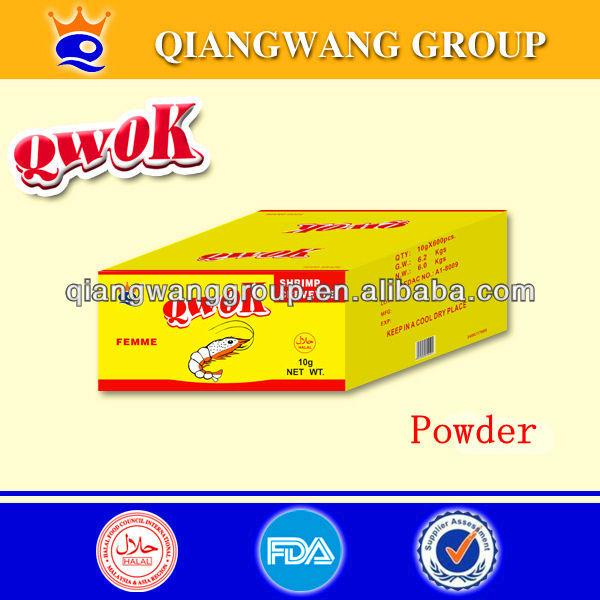 QWOK HALAL CHICKEN/BEEF/ SHRIMP/FISH SOUP POWDER BOUILLON POWDER SPICES POWDER COOKING POWDER