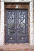Bisini luxury design wrought iron double entry door (BG90057)