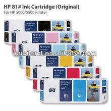 Original HP 81# Ink Cartridge,printhead &cleaner For HP 5000 5500 Printer