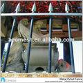 Pvc barato de hierro forjado valla metálica de acero galvanizado cerca para modelos de puertas RP
