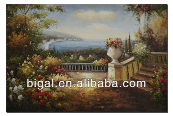New arrival handmade Mediterranean landscape oil painting on canvas