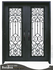 Quality wrought iron entry door FD-086