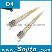 D4 to D4 Fiber Optical Patch Cords UPC Connectors