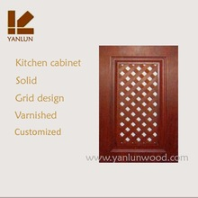 unique simple grid design solid oak wood prefinished modern kitchen prices