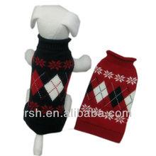 Argyle&snowflake dog clothing RSH1738