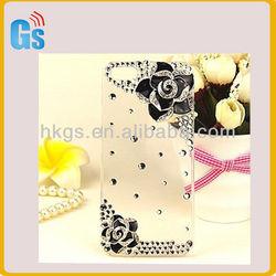Bling Camellia Flower Mobile Phone Cases For Girls