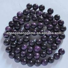 10mm natural round smooth dyed purple jade gemstone loose beads