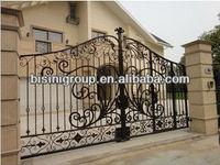 Bisini luxury galvanized steel double entry gate (BG90226)