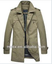 2014 Hot sale slim men's trench coat