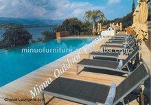 M-3016L mesh fabric sun lounger / chaise lounge / lounge chair