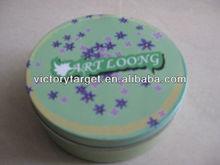 round wax tin packaging box