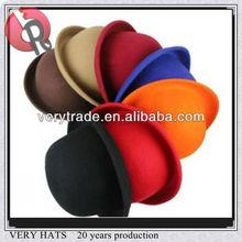 Unisex Vintage bowler, Lã Derby hat, Cloche boina