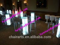 shanghai commercial furniture wedding acrylic led lighted stylish bar cocktail table