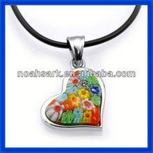 Fashion jewelry alibaba wholesale heart murano glass necklace