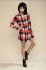 new model of ladies cotton plaid long shirt,loose clothes