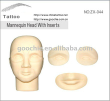 tattoo permanent makeup accessories eyebrow/lip pattern for practice head