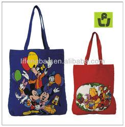 cartoon printing designer bag for shopping