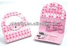 Pink Purse handbag Manicure Set