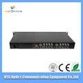 16 canaux vidéo et 1 émetteur et récepteur optique inverse de données / transmetteur de données et le récepteur