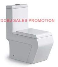 ceramic sanitary ware washdown one piece square toilet