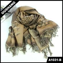 A1031-B Long Acrylic And Cotton Shawl Scarf