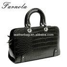 2014 popular crocodile print black young women handbags leather 2014