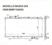 Mazda 323 62383A Radiator B6BF15200G