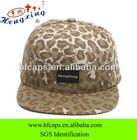 Cheap wholesale fashion leopard 5 panel snapback cap and hat