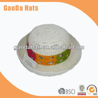 2013 fashionable style kids paper straw hats for girl