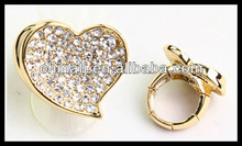 love stretch band rhinestone heart wedding ring