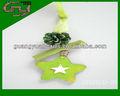 2014 mejor venta verde mini flor de navidad adornos de árbol