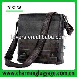 New real handmade leather men's shoulder bag