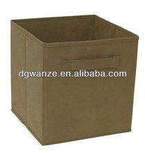 hot sale cheap folding brown nonwoven storage box