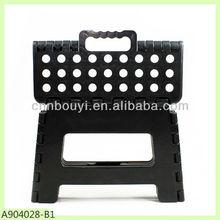 black 22cm height plastic low stool