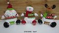 Decorações de natal item de santa do boneco de neve rena